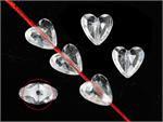 Mini Acrylic Hearts Clear - 100pk