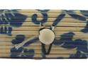 Mini Bamboo Jewellery Box: Blue Flowers