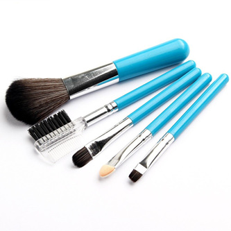 Mini Blue 5pc Makeup Brush Set