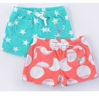 Mini boden Coral spot toweling shorts
