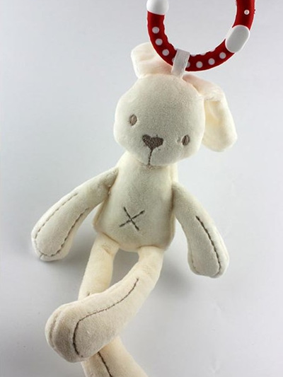 Mini Bunny with teething ring
