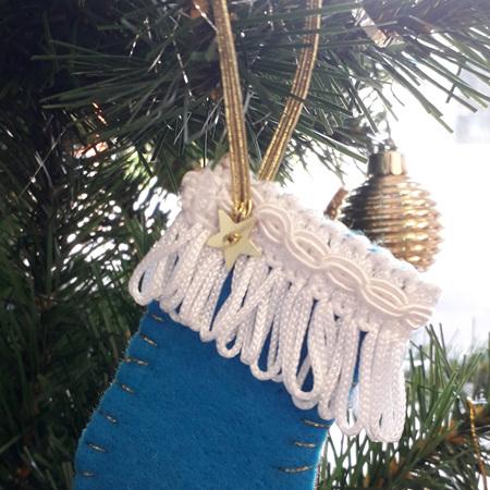 Mini Christmas Stocking Decorations