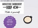 Mini hoop 4cm acrylic clear