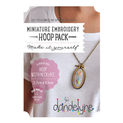 Mini Hoop & necklace  4 cm oval (vertical)
