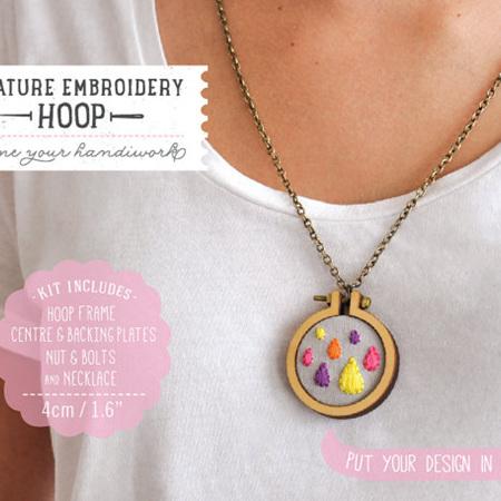 Mini Hoop & necklace 4cm round