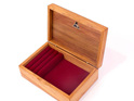 mini jewellery box burgundy