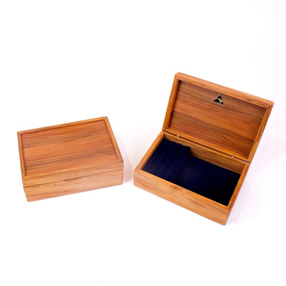 mini jewellery box navy open and closed