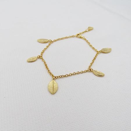 Mini Leaf Fall Bracelet - 18k Gold Plate