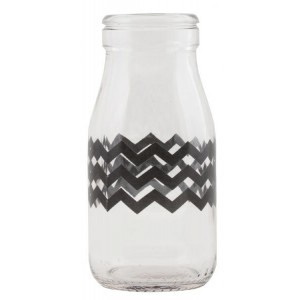Mini Milk Bottle - Chevron design