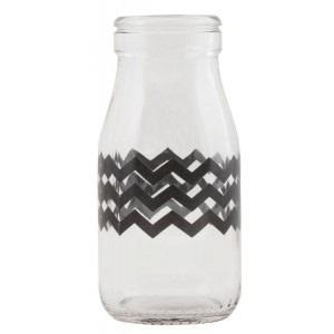 Mini Milk Bottle - Chevron design