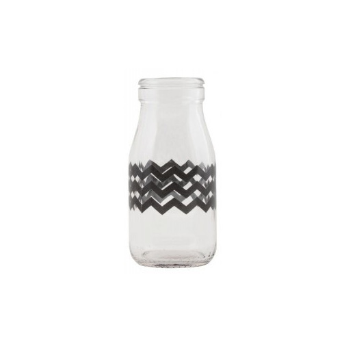 mini milk bottles with chevron design perfect for your next party. very retro