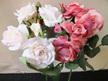 mini patio rose artificial silk fake not real