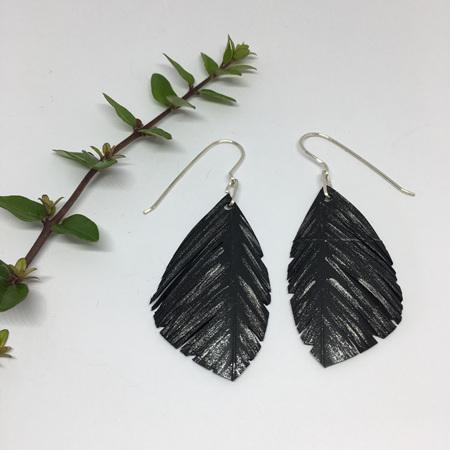 Mini Silvereye Earrings - Silver Fleck - Sterling Silver Hooks