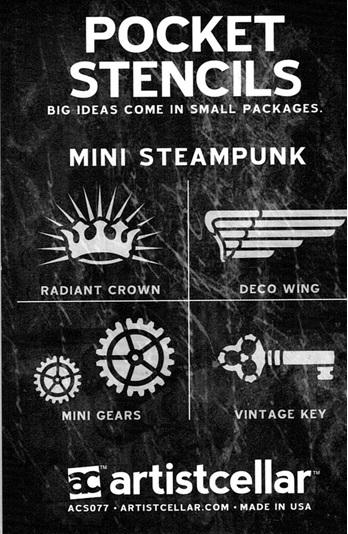 Mini Steampunk  3.5 x 2.5 in