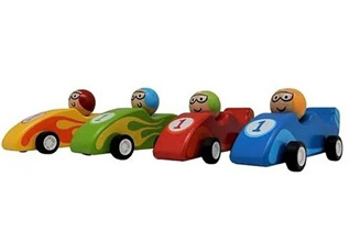 Mini Wooden Racing Car