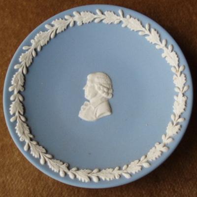 Miniature blue jasper ware plate