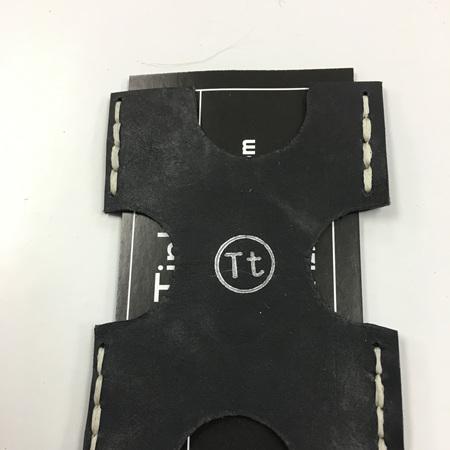 Minimalist 'X' Leather Wallet