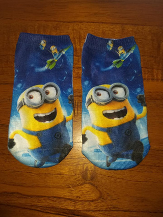 Minions Socks #1 Size 2-4yrs