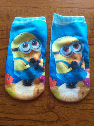 Minions Socks #2 Size 2-4yrs