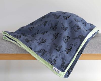 Construction Time Mint Blanket