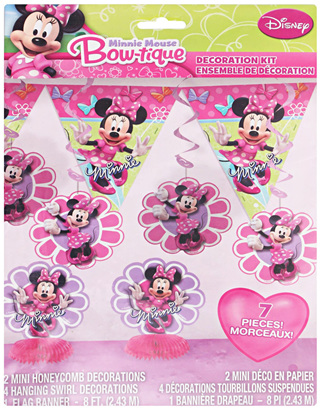 Minnie Mouse - 7 Piece Decoration Kit