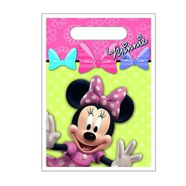 Minnie Mouse Bowtique Loot Bags x 8