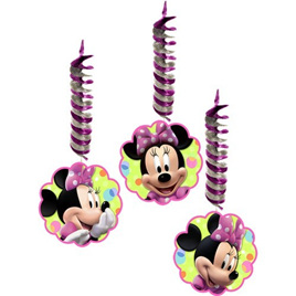 Minnie Mouse hanging Decorations 3 pack