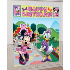 Minnie Mouse Happy Birthday Scene Setter