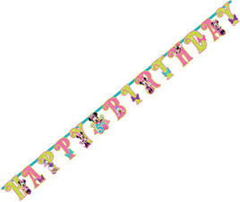Minnie Mouse - Jumbo Party Banner - Add a Letter