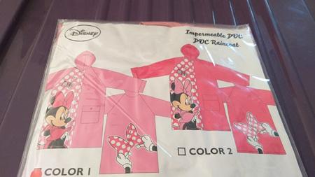 Minnie Mouse Raincoat Colour 2 - Size 4