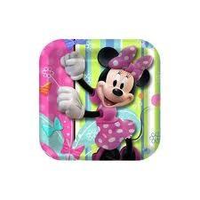 Minnie Mouse Square Plates 17.78cm