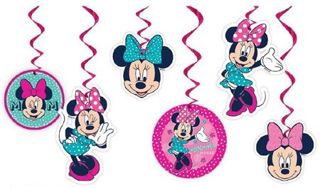 Minnie Mouse Swirl Decorations