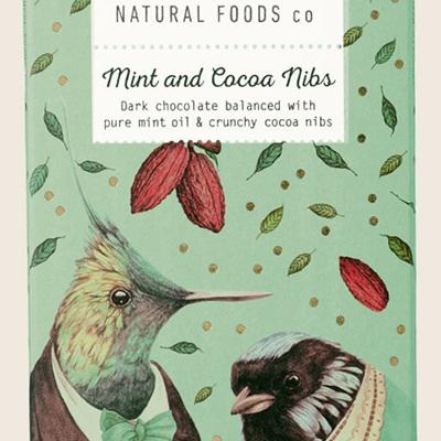 Mint & Cocoa Nibs Dark 100g