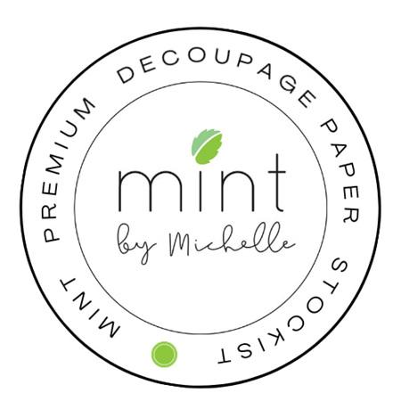 Mint Decoupage Paper