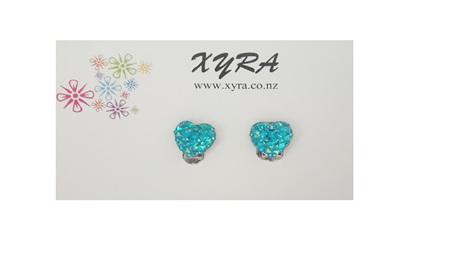 Mint Green Adorable Heart Clip-on Earrings