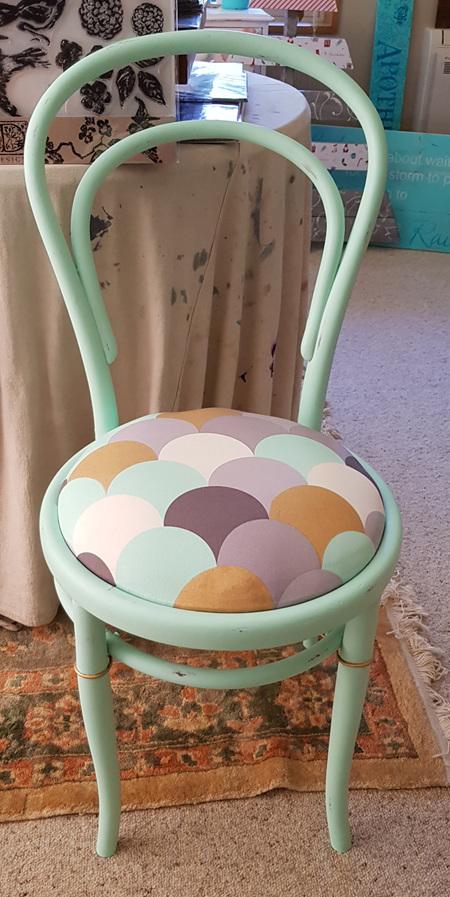 Mint n Gold Chair