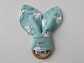 Mint Teepee Bunny Teether