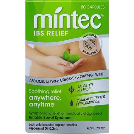 Mintec IBS Relief 20 Capsules