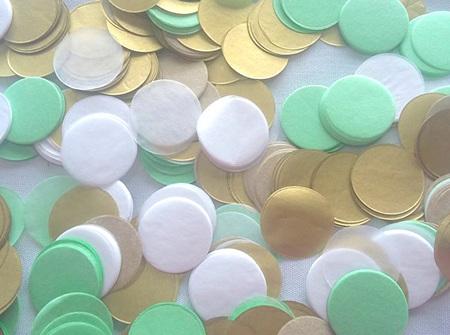 Minty confetti