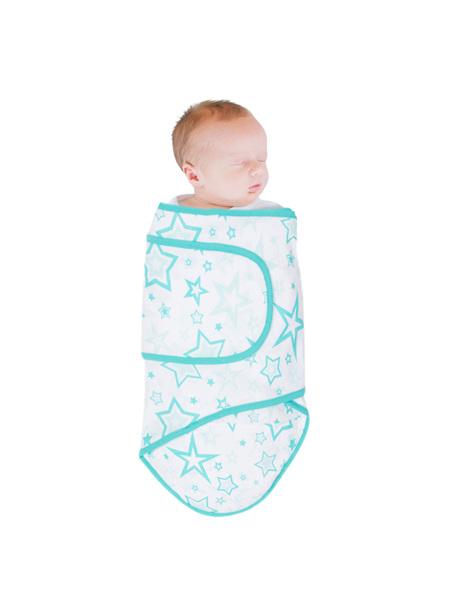 Miracle Blanket Aqua Stars-Newborn to 14 weeks