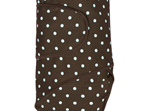 Miracle blanket chocolate with blue spots - a swaddle that makes life easy