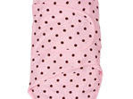 Miracle blanket pink with chocolate spot - a swaddle that makes life easy