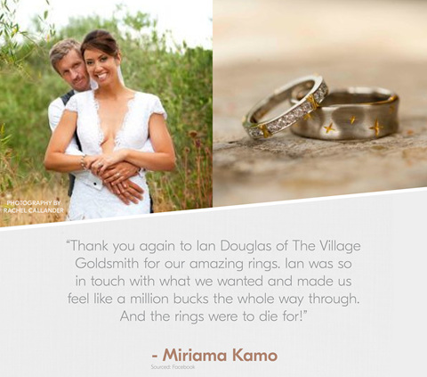 Miriama Kamo Quote, Review, Testimonial, Village Goldsmith Testimonial