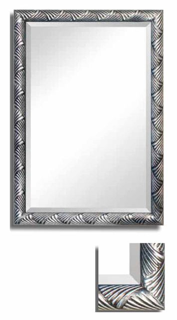 Mirror Italian Collection  Silver Criss Cross