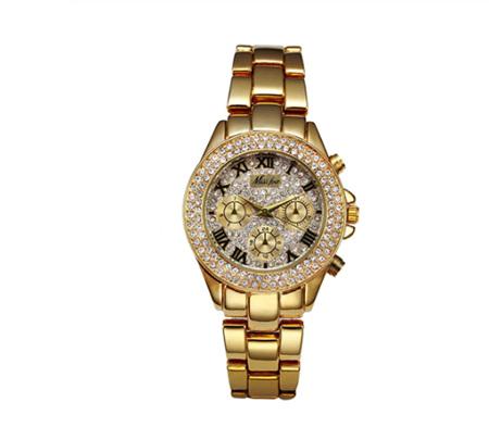 Miss Fox Luxury Roman Watch - Golden