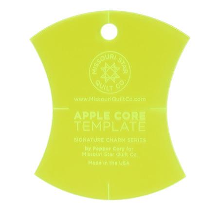 "Missouri Star Small Apple Core (4 1/2"") Template"