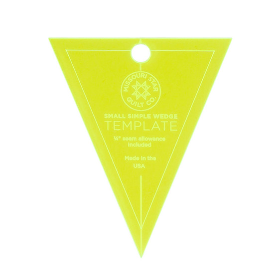 """Missouri Star Small Simple Wedge Template for 5"""" Charm Squares"""