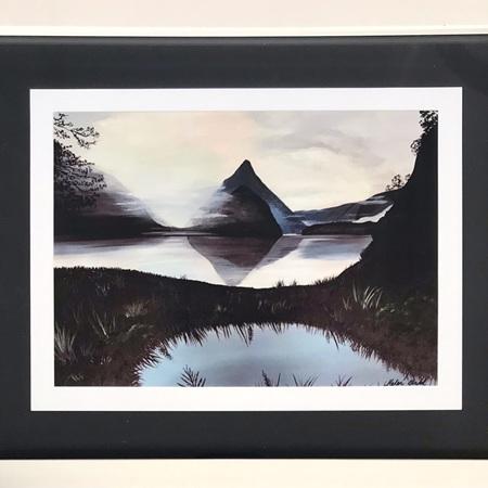 "Misty Milford Print in 8x10"" Frame"