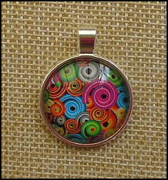 Mix Spiral Glass Dome Necklaces