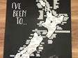 Moana Rd A2 NZ Road Trip Scratch Map Unframed